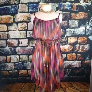 Ruby Rox Asymmetrical Blouson Dress.Large. M39